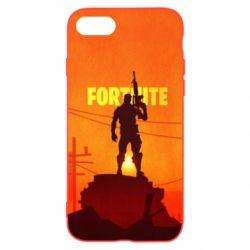 Чехол для iPhone 7 Fortnite minimalist silhouettes
