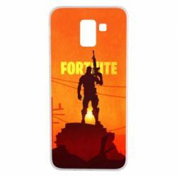 Чехол для Samsung J6 Fortnite minimalist silhouettes