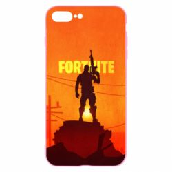 Чехол для iPhone 7 Plus Fortnite minimalist silhouettes