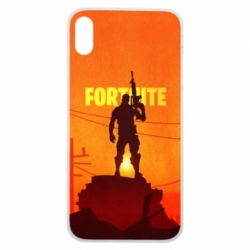 Чехол для iPhone Xs Max Fortnite minimalist silhouettes