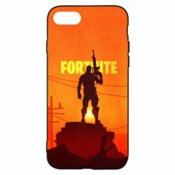 Чехол для iPhone 8 Fortnite minimalist silhouettes