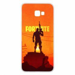 Чехол для Samsung J4 Plus 2018 Fortnite minimalist silhouettes