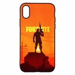 Чехол для iPhone X/Xs Fortnite minimalist silhouettes