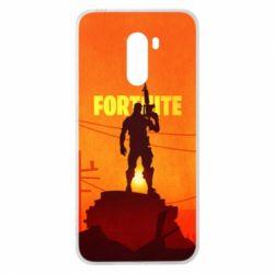 Чехол для Xiaomi Pocophone F1 Fortnite minimalist silhouettes