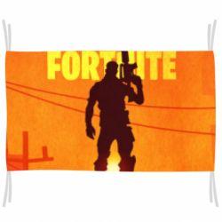 Флаг Fortnite minimalist silhouettes