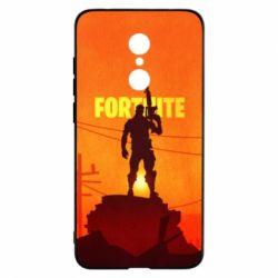Чехол для Xiaomi Redmi 5 Fortnite minimalist silhouettes
