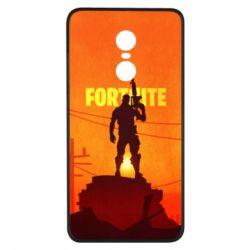 Чехол для Xiaomi Redmi Note 4x Fortnite minimalist silhouettes