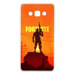 Чехол для Samsung A7 2015 Fortnite minimalist silhouettes