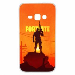 Чехол для Samsung J1 2016 Fortnite minimalist silhouettes