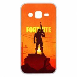 Чехол для Samsung J2 2015 Fortnite minimalist silhouettes