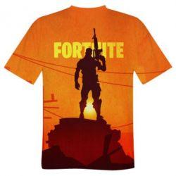 Мужская 3D футболка Fortnite minimalist silhouettes