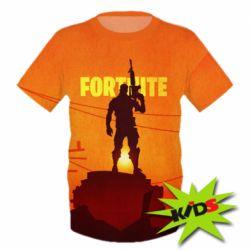 Детская 3D футболка Fortnite minimalist silhouettes