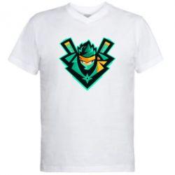 Чоловіча футболка з V-подібним вирізом Fortnite ninja