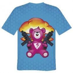 Мужская 3D футболка Fortnite pink bear - FatLine