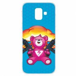 Чехол для Samsung A6 2018 Fortnite pink bear - FatLine