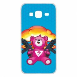 Чехол для Samsung J3 2016 Fortnite pink bear - FatLine