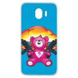 Чехол для Samsung J4 Fortnite pink bear - FatLine