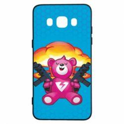 Чехол для Samsung J5 2016 Fortnite pink bear - FatLine