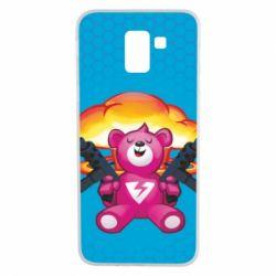 Чехол для Samsung J6 Fortnite pink bear - FatLine
