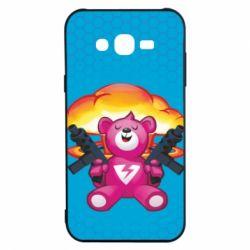 Чехол для Samsung J7 2015 Fortnite pink bear - FatLine
