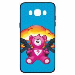 Чехол для Samsung J7 2016 Fortnite pink bear - FatLine