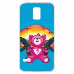 Чехол для Samsung S5 Fortnite pink bear - FatLine
