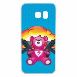 Чехол для Samsung S6 EDGE Fortnite pink bear - FatLine
