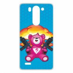 Чехол для LG G3 mini/G3s Fortnite pink bear - FatLine