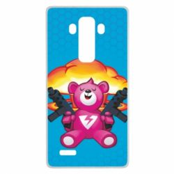 Чехол для LG G4 Fortnite pink bear - FatLine