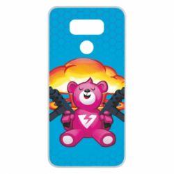 Чехол для LG G6 Fortnite pink bear - FatLine