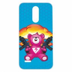 Чехол для LG K7 2017 Fortnite pink bear - FatLine