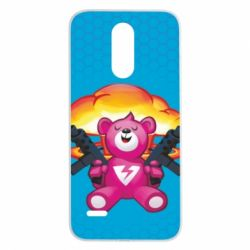 Чехол для LG K8 2017 Fortnite pink bear - FatLine