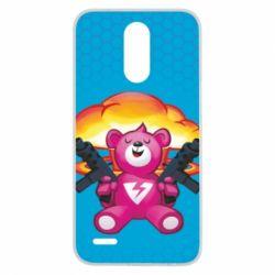 Чехол для LG K10 2017 Fortnite pink bear - FatLine