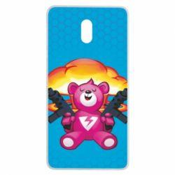 Чехол для Nokia 3 Fortnite pink bear - FatLine