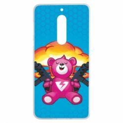 Чехол для Nokia 5 Fortnite pink bear - FatLine
