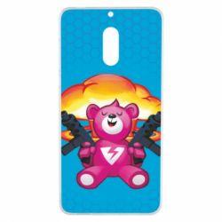 Чехол для Nokia 6 Fortnite pink bear - FatLine