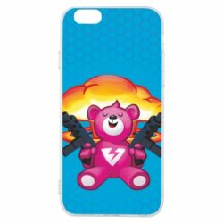 Чехол для iPhone 6/6S Fortnite pink bear - FatLine