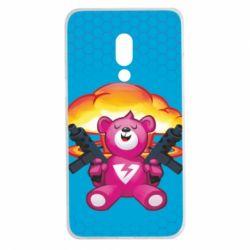 Чехол для Meizu 15 Plus Fortnite pink bear - FatLine
