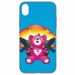 Чехол для iPhone XR Fortnite pink bear - FatLine