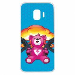 Чехол для Samsung J2 Core Fortnite pink bear - FatLine