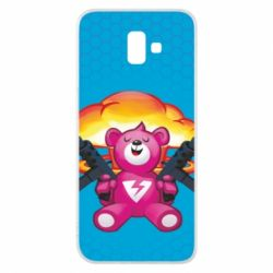Чехол для Samsung J6 Plus 2018 Fortnite pink bear - FatLine