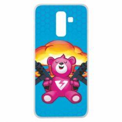 Чехол для Samsung J8 2018 Fortnite pink bear - FatLine