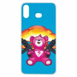 Чехол для Samsung A6s Fortnite pink bear - FatLine
