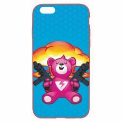 Чехол для iPhone 6 Plus/6S Plus Fortnite pink bear - FatLine