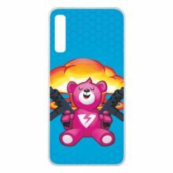 Чехол для Samsung A7 2018 Fortnite pink bear - FatLine