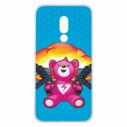 Чехол для Meizu 16 Fortnite pink bear - FatLine