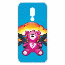 Чехол для Meizu 16x Fortnite pink bear - FatLine