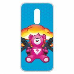 Чехол для Meizu 16 plus Fortnite pink bear - FatLine