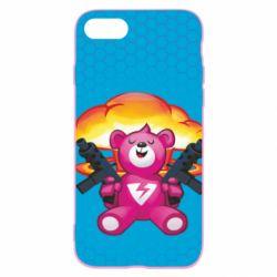 Чехол для iPhone 7 Fortnite pink bear - FatLine