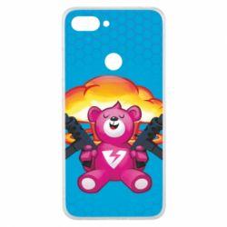 Чехол для Xiaomi Mi8 Lite Fortnite pink bear - FatLine